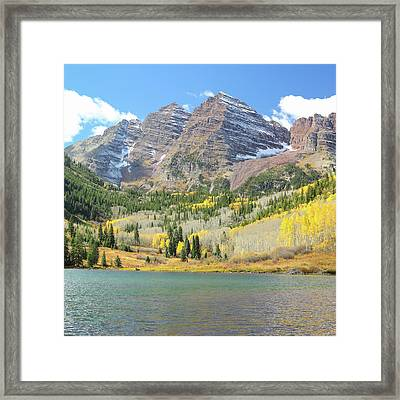 The Maroon Bells 2 Framed Print by Eric Glaser