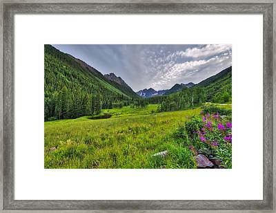 Framed Print featuring the photograph The Maroon Bells - Maroon Lake - Colorado by Photography By Sai
