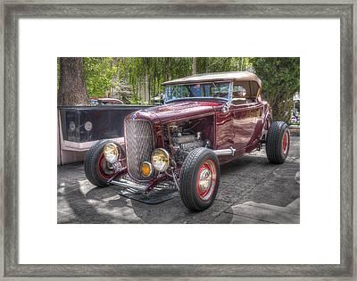 Maroon T Bucket Framed Print