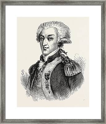 The Marquis De Lafayette Framed Print by American School