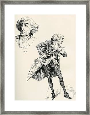 The Marquis. Illustration By Harry Framed Print by Vintage Design Pics
