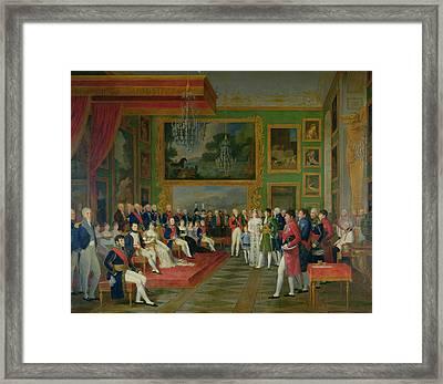 The Marriage Of Eugene De Beauharnais Framed Print by Francois Guillaume Menageot