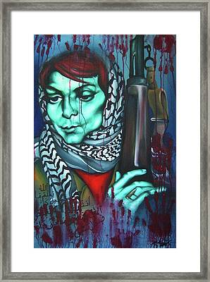 The Marriage Of Leila Khaled Framed Print by Khalid Hussein