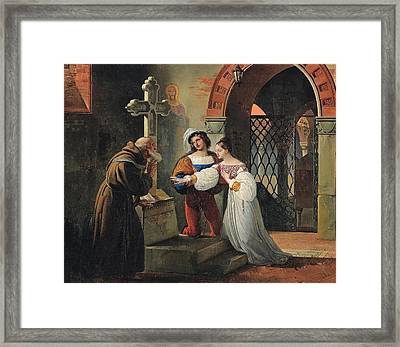 The Marriage Of Romeo And Juliet  Framed Print by Francesco Hayez