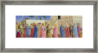 The Marriage Of The Virgin Framed Print by Fra Angelico