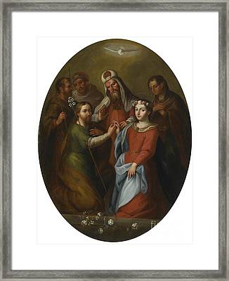 The Marriage Of The Virgin Framed Print by Celestial Images