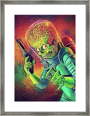 The Martian - Mars Attacks Framed Print by Taylan Apukovska