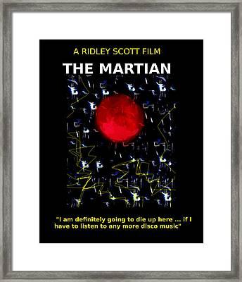 The Martian Movie Poster  Framed Print