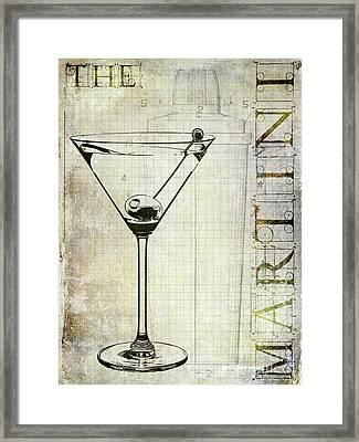 The Martini Framed Print
