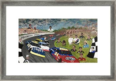 The Martinsville Speedway Framed Print by Charles Hill