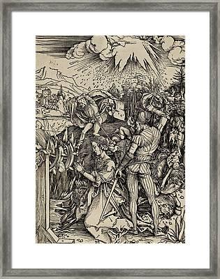 The Martyrdom Of St. Catherine Of Alexandria Framed Print by Albrecht Durer