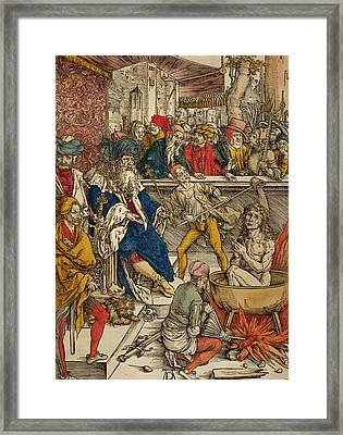 The Martyrdom Of St John Framed Print by Albrecht Durer or Duerer