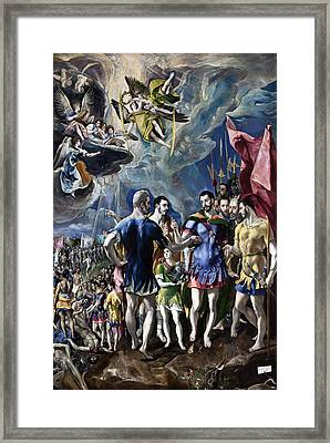 The Martyrdom Of St Maurice Framed Print by El Greco