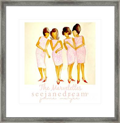 The Marvelettes Framed Print by Janie McGee
