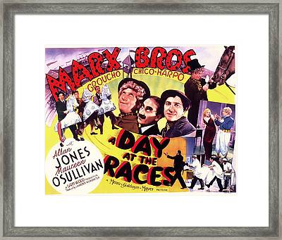The Marx Bros - A Day At The Races 1937 Framed Print by Mountain Dreams