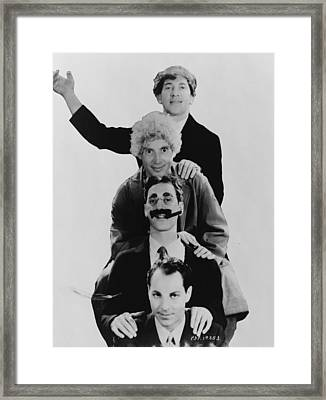 The Marx Brothers  Framed Print by Georgia Fowler