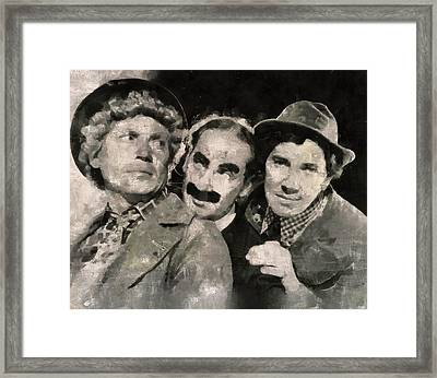 The Marx Brothers Framed Print by Mary Bassett