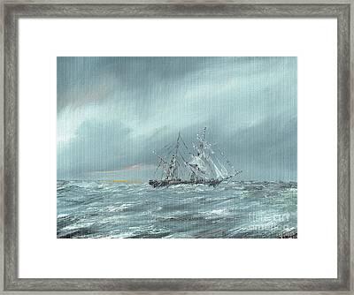 The Mary Celeste Adrift December 5th 1872 Framed Print by Vincent Alexander Booth