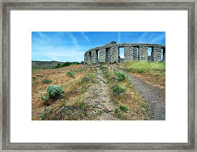 The Maryhill Stonehenge Framed Print