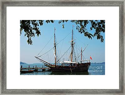 The Maryland Dove Ship Framed Print by Thomas R Fletcher