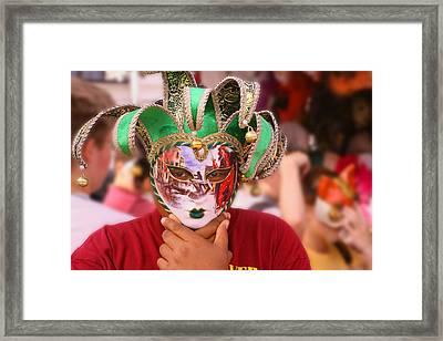 The Mask Framed Print by Greg Sharpe