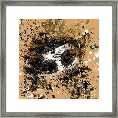The Mask Of Fiction Framed Print