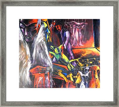 The Mass Process Of Meaningless Animal Slaughter Framed Print