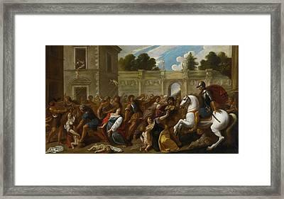 The Massacre Of The Innocents Framed Print