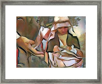 The Master's Hands - Provider Framed Print by Wayne Pascall