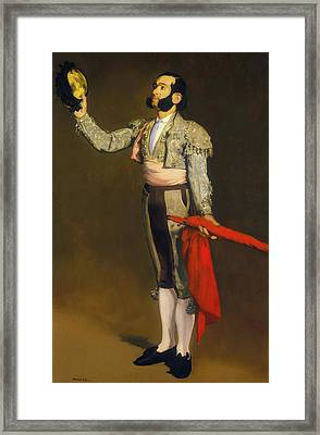 The Matador Framed Print by Edouard Manet