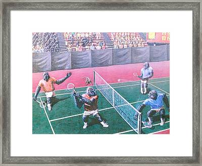 The Match Framed Print by George I Perez