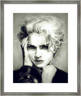 The Material Girl Framed Print