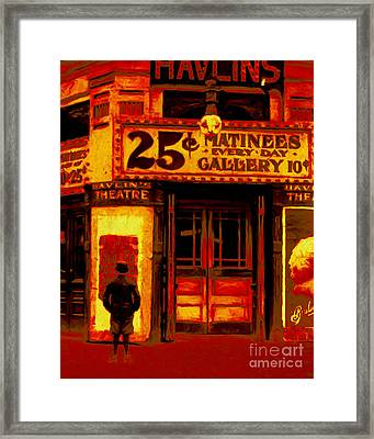 The Matinee - 20130207 Framed Print by Wingsdomain Art and Photography