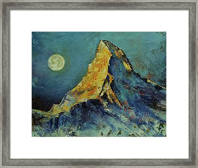 The Matterhorn Framed Print by Michael Creese