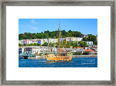 The Matthew In Bristol Harbour Framed Print by Colin Rayner