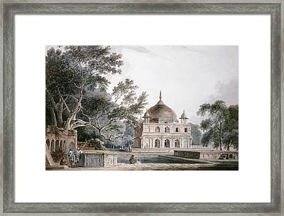 The Mausoleum Of Prince Khusrau Framed Print by Thomas and William Daniell