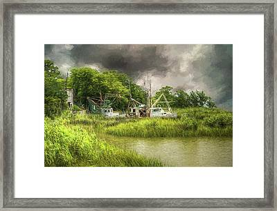 The Me And Matt - Apalachicola Florida Framed Print by John Adams