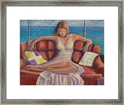 The - Me - Time Framed Print by Marcel Quesnel