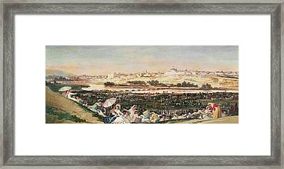 The Meadow At San Isidro Framed Print by Goya