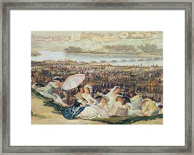 The Meadow Of San Isidro  Detail Framed Print by Goya