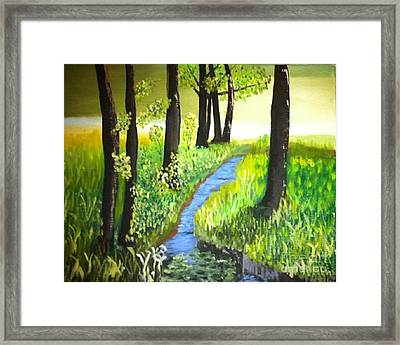 Framed Print featuring the painting The Meadow by Rod Jellison