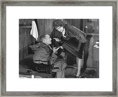 the Meanest Gal In Town Framed Print by Underwood Archives