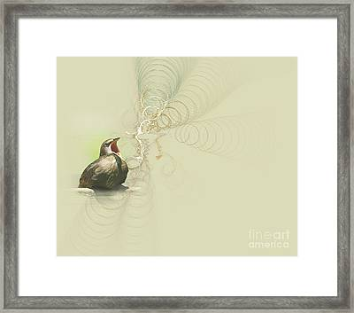 The Mechanical Energy Of Sound Framed Print by Jan Piller