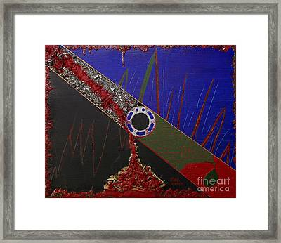 The Mechanization Of Greed Framed Print by Rick Maxwell