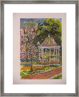 The Median Framed Print