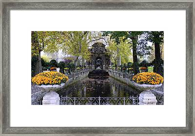 The Medici Fountain At The Jardin Du Luxembourg In Paris France. Framed Print