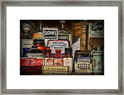 The Medicine Shelf Framed Print by Paul Ward