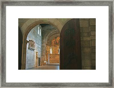 An Early Morning At The Medieval Abbey Framed Print
