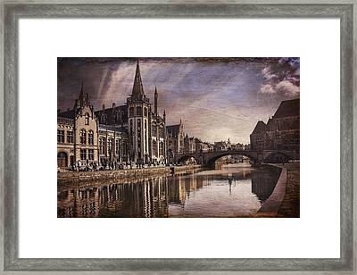 The Medieval Old Town Of Ghent  Framed Print by Carol Japp