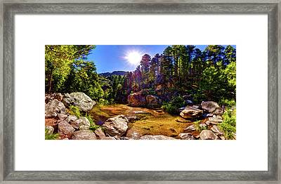The Meditation Pond Framed Print by ABeautifulSky Photography